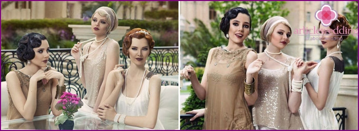 Hochzeitsoutfit im Gatsby-Stil