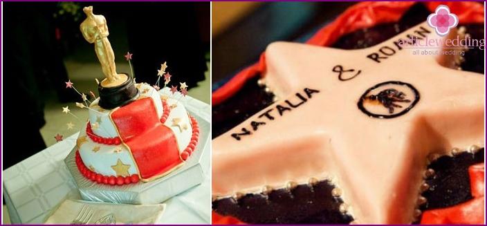 Cake for a wedding film award