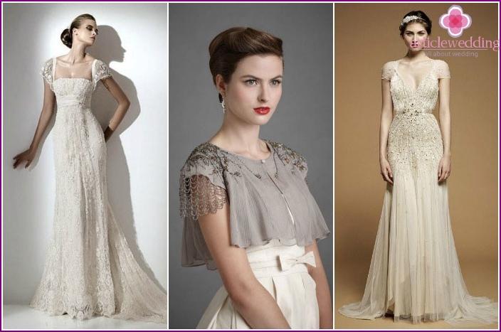 Elegant bride image for an Oscar wedding.