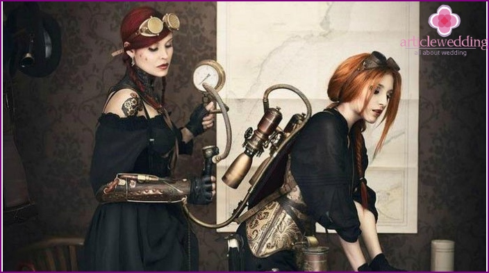 Photoshoot in a unique steampunk style