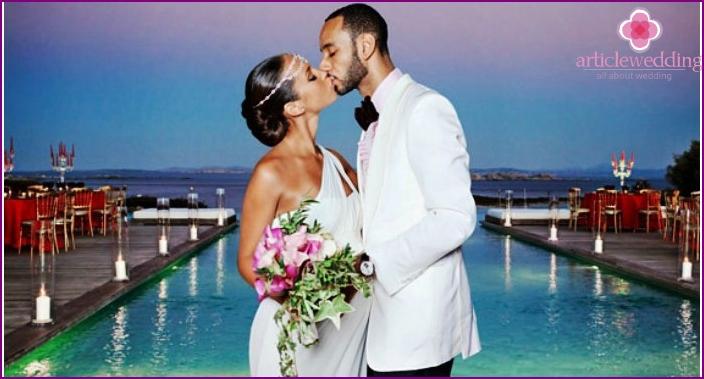 Greek style field marriage registration