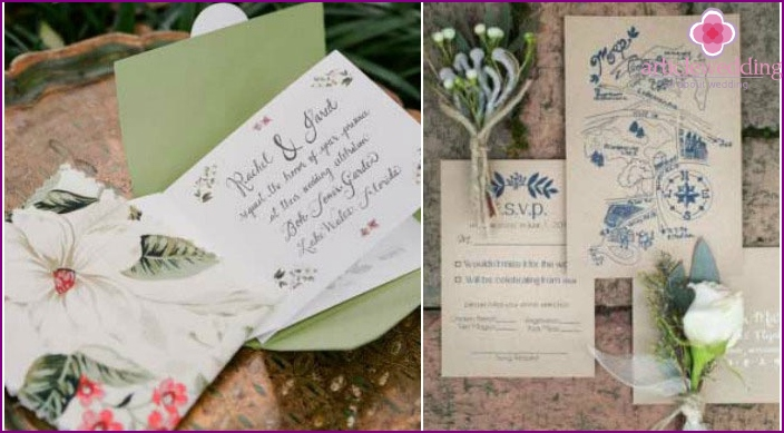 Beautiful wedding invitation cards