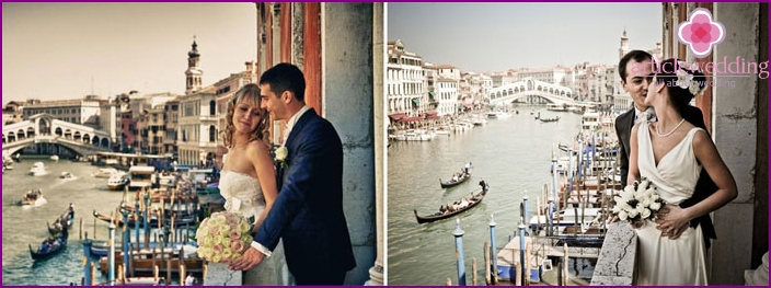 Wedding in the streets of Venice