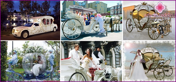 Motorcade for Cinderella and the Prince