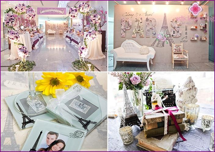 Paris style: wedding decoration