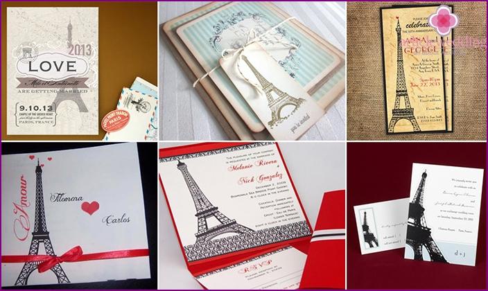 Paris style invitations