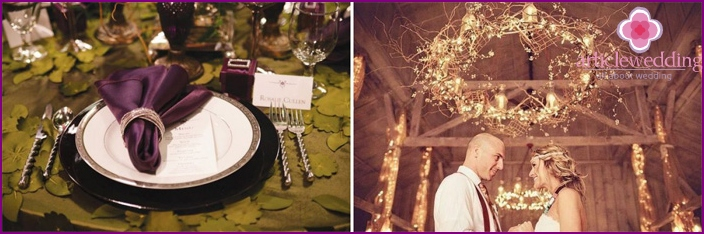 Banquet Hall Decoration for Grape Wedding