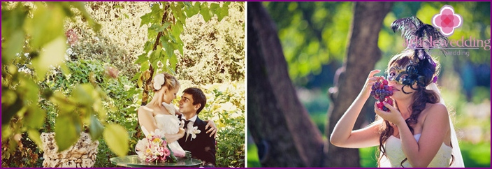 Ideas for a grape wedding photo shoot