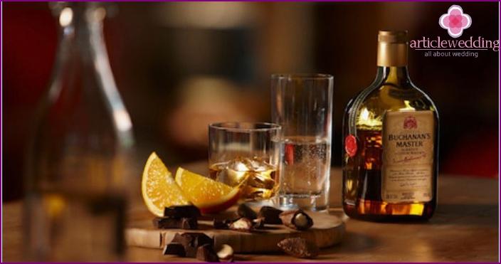 Whiskey - das Hauptgetränk der Hochzeit in Chicago