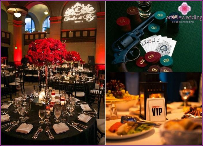 Chicago Hochzeitsdekor Details