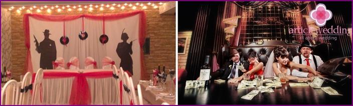 Mafia-style banquet hall
