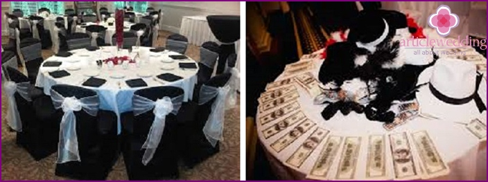 Sicilian Mafia Style Wedding Table Decor