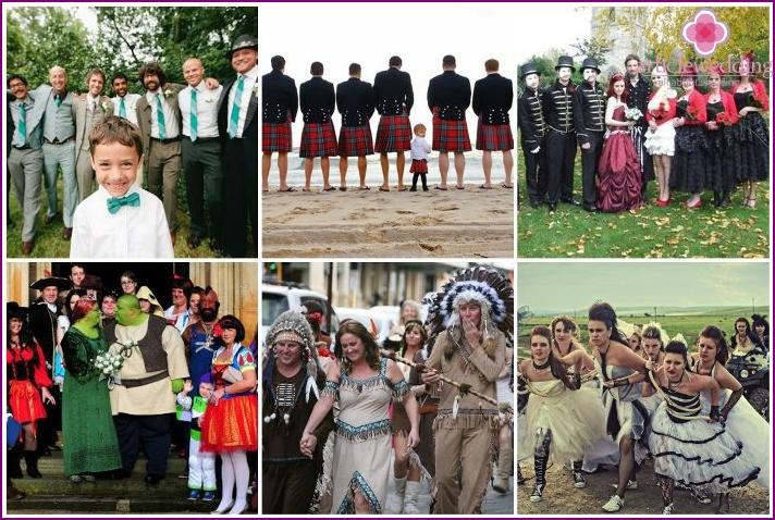 Kreative Outfits für Hochzeitseinladungen