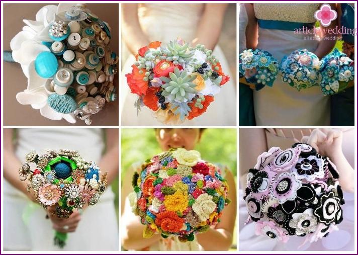 Kreativer Blumenstrauß für die Braut
