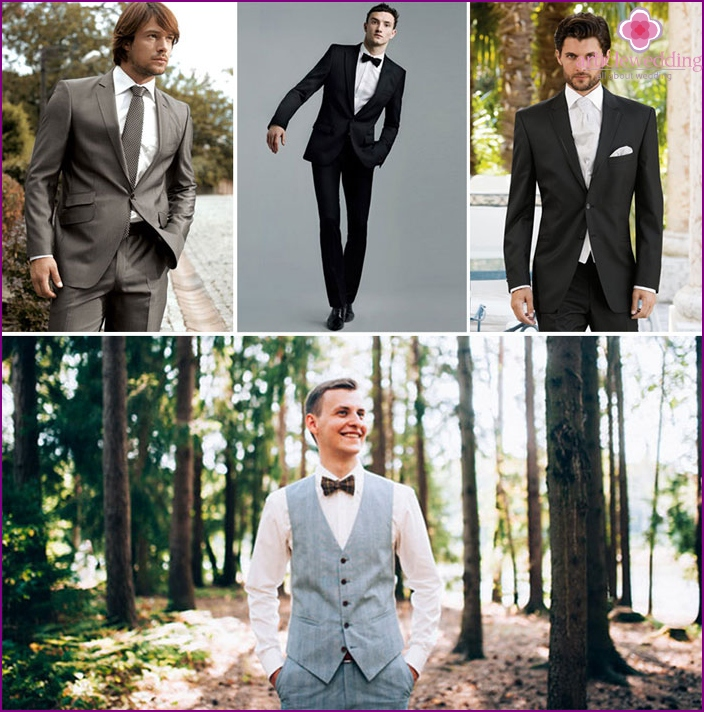 Classic style for the groom