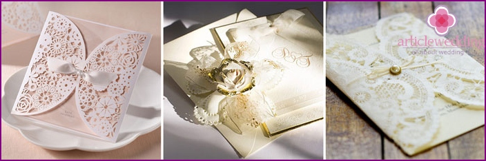 Classic style invitation cards