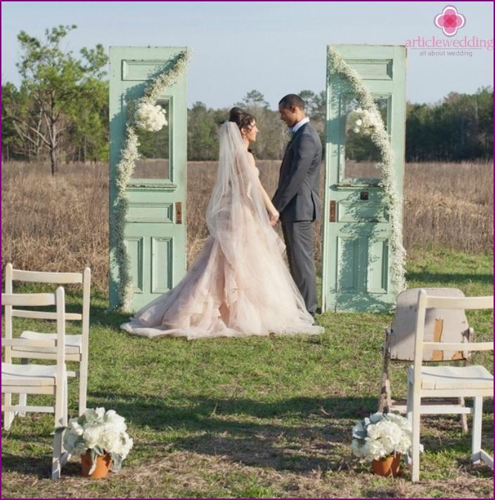 Provence style wedding ceremony
