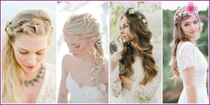 Provence Style Wedding Hairstyle