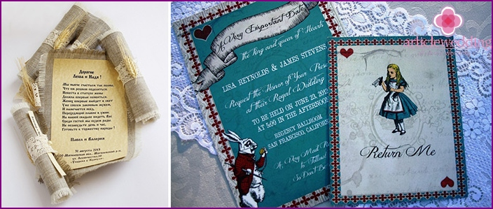 Fabulous wedding invitation