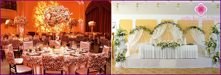 Fairytale decor of the banquet hall