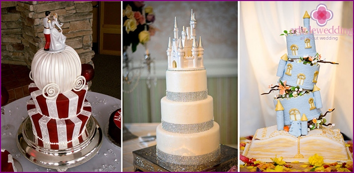Wedding cake like in a fairy tale