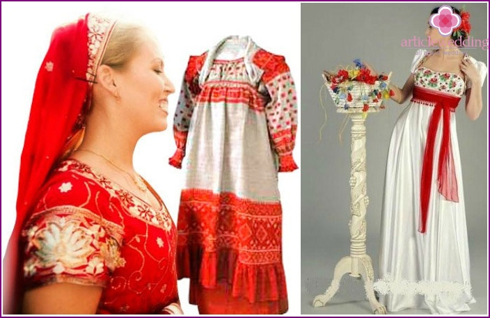 Options for a festive dress for a Russian celebration