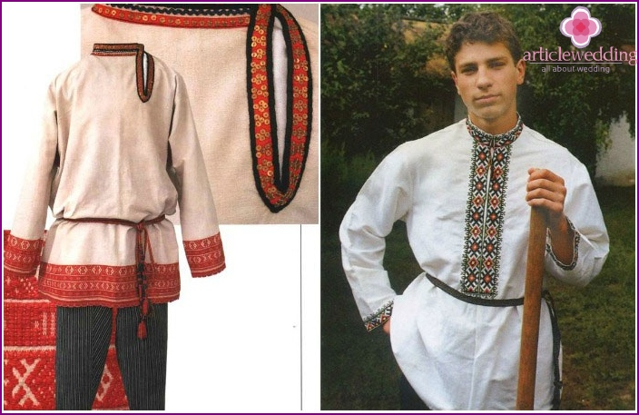 Men's folk wedding suit for a Russian wedding