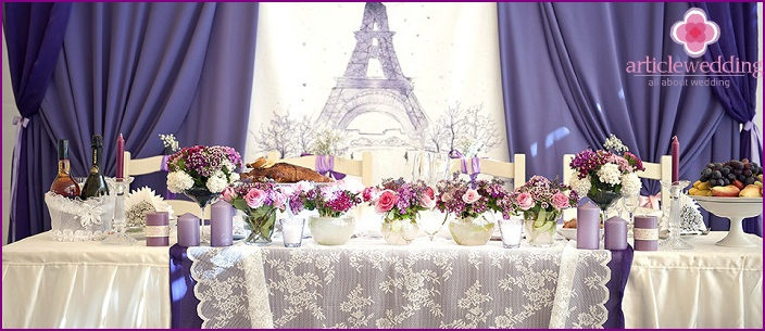 French wedding table decor