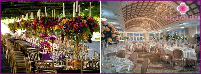 Italian style wedding decoration