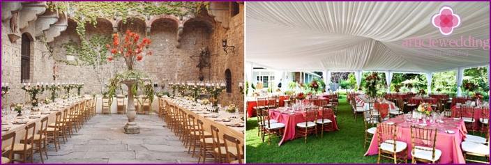 Idea for decorating a wedding hall