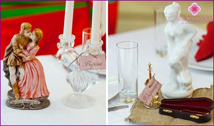 Italian wedding decoration elements