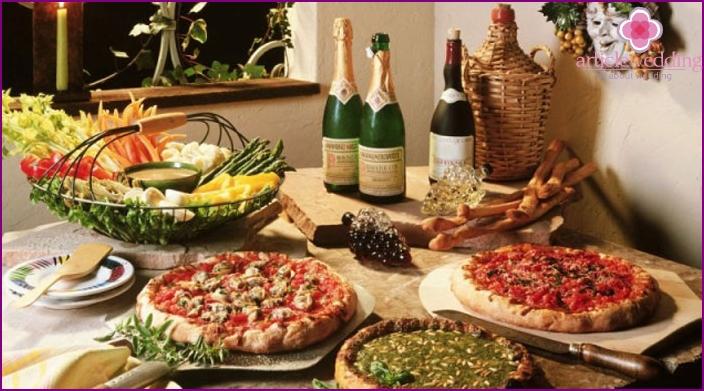 Italian pizza for a wedding