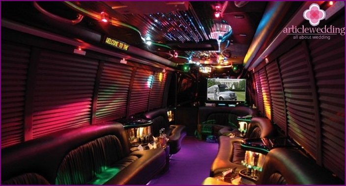 Limo: club bus inside