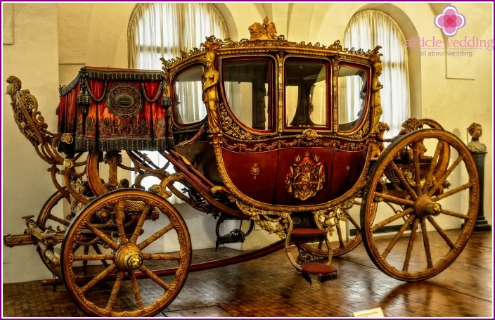 Classic medieval carriage