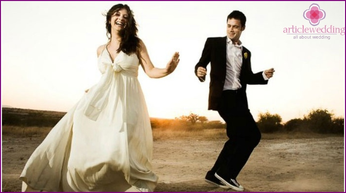 Wedding dance with a surprise