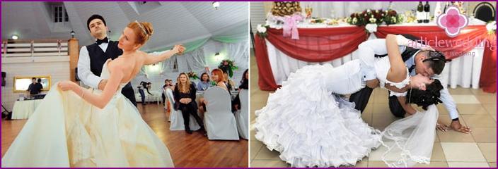 Newlyweds dance tango