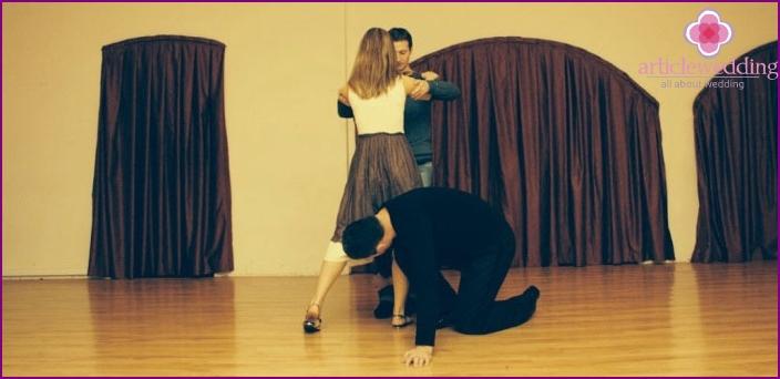 Hochzeitsproduktion mit einem Choreografen