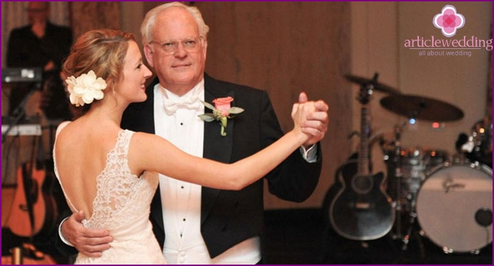 Wedding dance of father and daughter