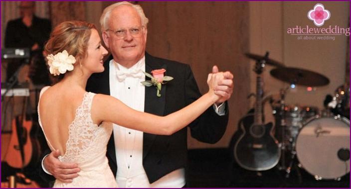 Hochzeitstanz von Vater und Tochter