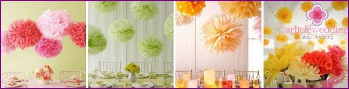 Bride apartment decoration
