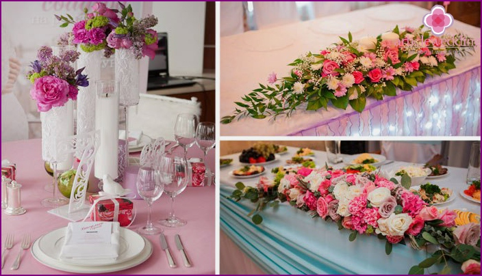 Ideas for decorating a place for a feast with flowers