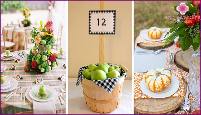 The use of fruit in wedding decor