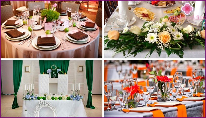 Banquet hall decoration