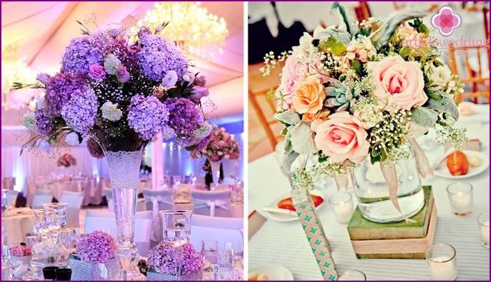 Flowers table decor