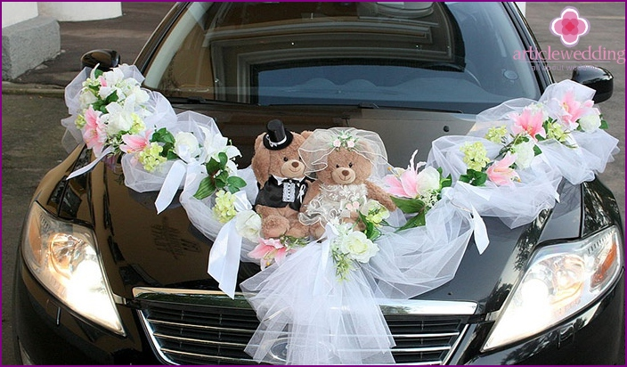 Teddy bears for car decoration