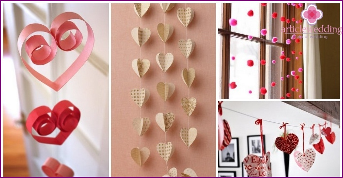 Wall decoration for a wedding