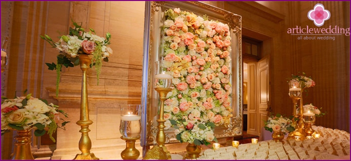 Wall Decoration for Wedding
