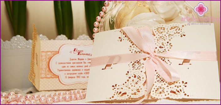 Invitation cards for a wedding or a bachelorette party.