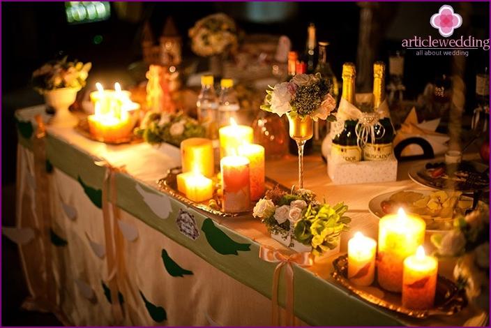 Romantische Hochzeit Tischdekoration