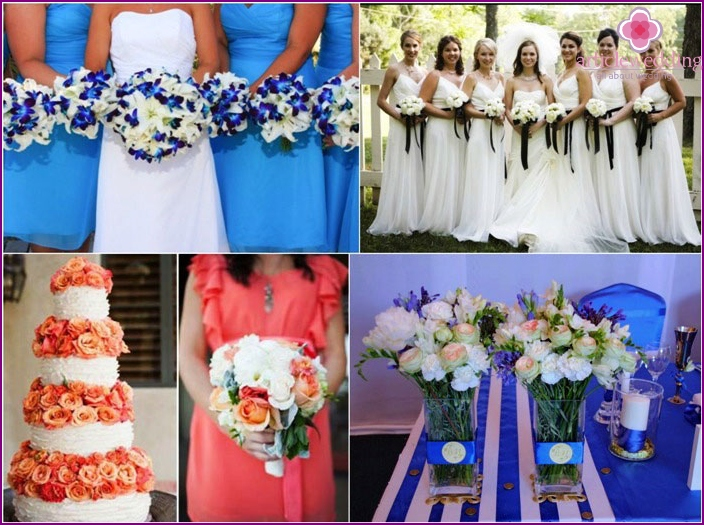 Common colors for a wedding